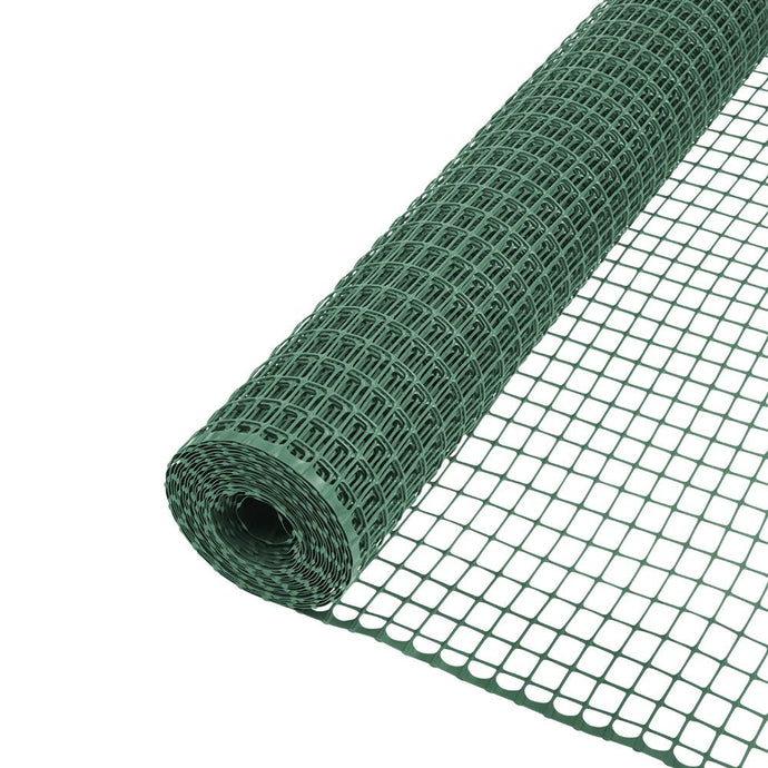 Everbilt 1 In. X 3.3 Ft. X 25 Ft. Green Plastic Garden Fence