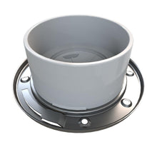 Load image into Gallery viewer, Fast Set 4 In. PVC Hub Toilet Flange With Test Cap And Stainless Steel Ring