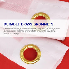 Load image into Gallery viewer, Fly Breeze 3 Ft. X 5 Ft. Polyester Rainbow Flag 6 Stripes 2-Sided Flag Banner With Brass Grommets And Canvas Header