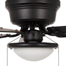 Load image into Gallery viewer, Hugger 52 In. LED Indoor Black Ceiling Fan With Light Kit