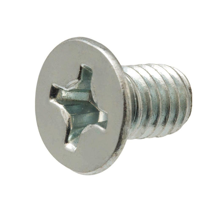 M4-0.7 X 12 Mm Phillips Flat Head Zinc Plated Machine Screw (3-Pack)