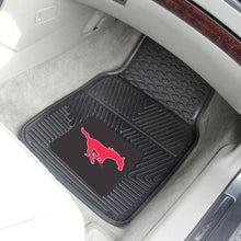 Load image into Gallery viewer, NCAA Southern Methodist University Heavy Duty 2-Piece 18 In. X 27 In. Vinyl Car Mat