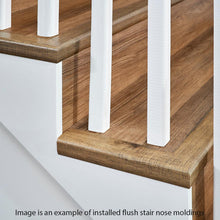 Load image into Gallery viewer, Natural Oak Warm Grey 1.32 In. Thick X 1.88 In. Wide X 78.7 In. Length Vinyl Stairnose Molding