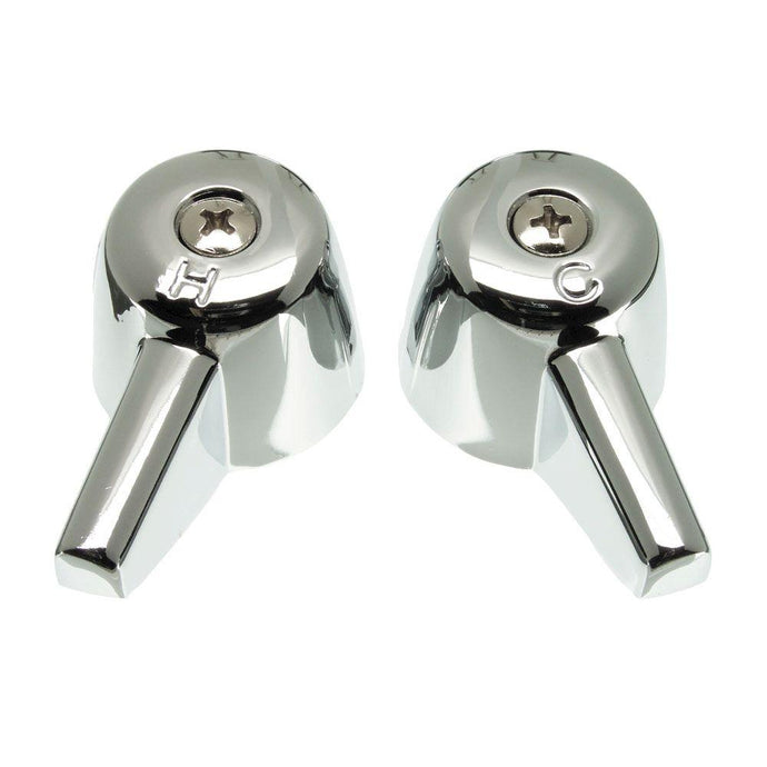 Pair Of Handles For Central Faucets In Chrome