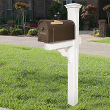 Load image into Gallery viewer, Postal Pro Post-Mount Hampton Mailbox In Bronze With Gold Lettering
