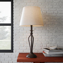 Load image into Gallery viewer, Rhodes 28 In. Bronze Table Lamp With Natural Linen Shade