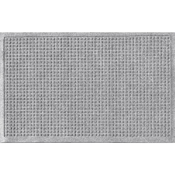 Squares 18 In. X 27 In. PET Polyester Door Mat Medium Gray