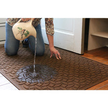 Load image into Gallery viewer, Squares 18 In. X 27 In. PET Polyester Door Mat Medium Gray