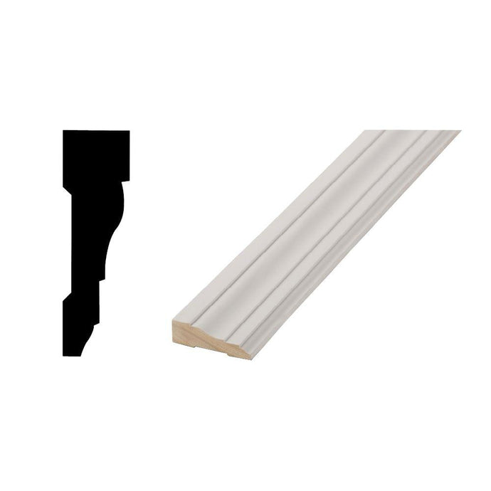 WM 366 - 11/16 In. X 2-1/4 In. X 84 In. Primed Finger-Jointed Casing Molding Door Pack