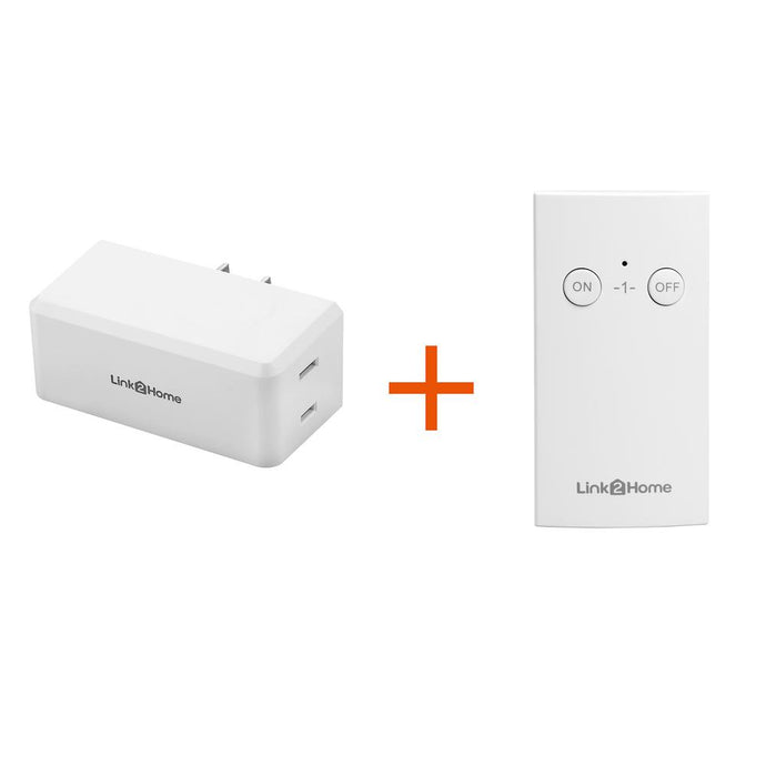 Wireless Indoor Remote Control Outlet Switch With 1 RCV And 1 Remote