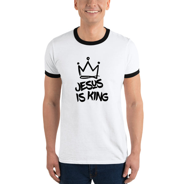 JESUS IS KING Ringer T-Shirt
