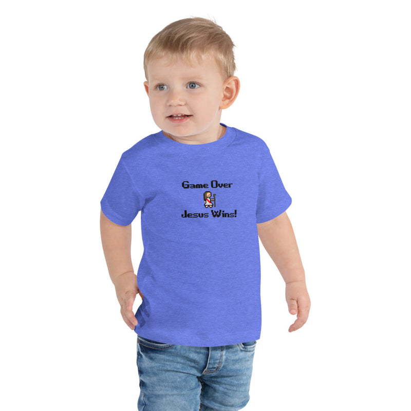Game Over Jesus Wins! Toddler Short Sleeve Tee