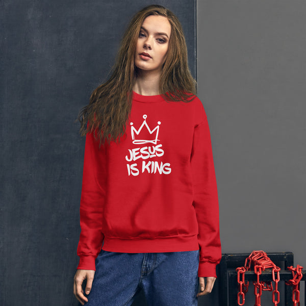 JESUS IS KING Unisex Sweatshirt