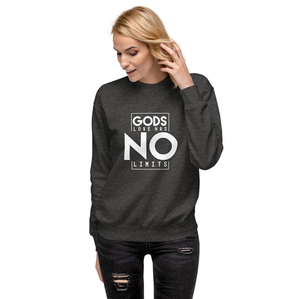 Gods love has no limits Unisex Fleece Pullover