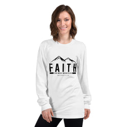 Faith can move mountains Long sleeve t-shirt