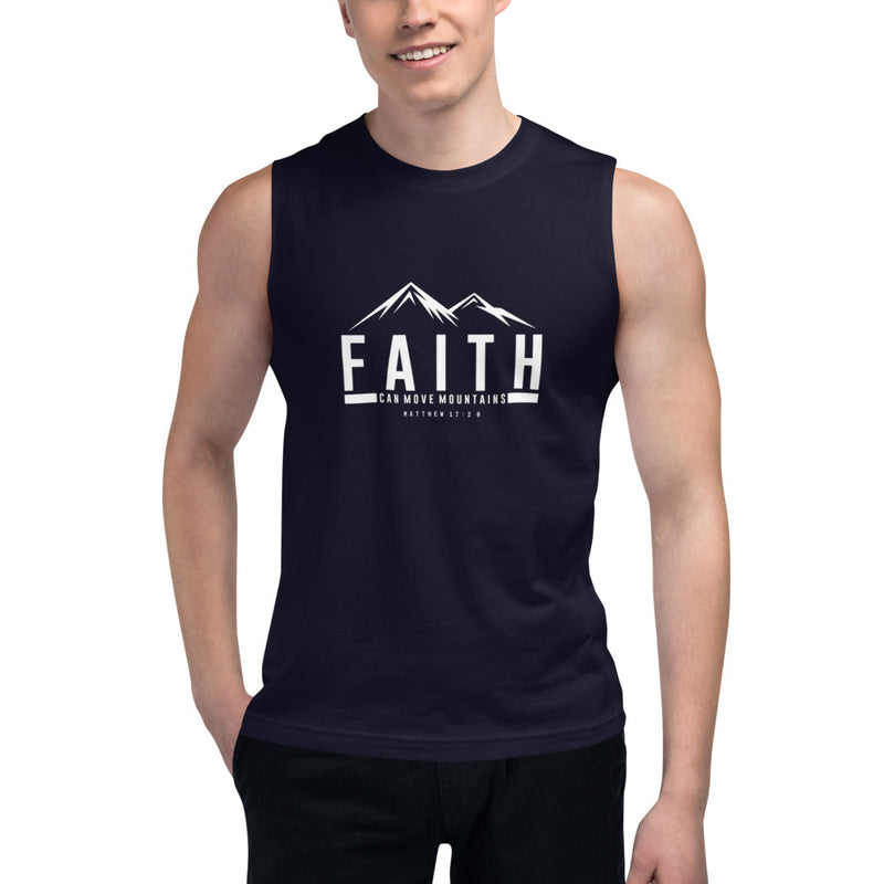 Faith Can Move Mountains Muscle Shirt