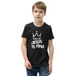 Jesus is king Youth Short Sleeve T-Shirt