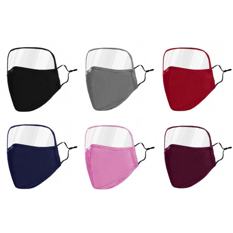 Protective Face Mask with Eye Shield - 6 Colors