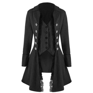 Coat Women Vintage Suit Jacket Long Vintage Steampunk Retro Tailcoat Button Breasted Gothic Victorian Frock Coat Gothic Coat