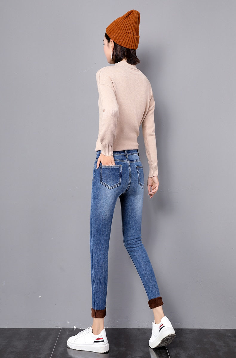 Wintlind-Fleece Lined Thermal Jeans
