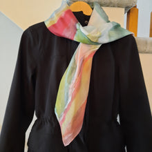 Load image into Gallery viewer, Unique Luxury Multicolour Hand Painted Silk Scarf
