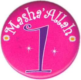 Masha'Allah Birthday Badge (Violet, Age 1)