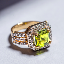 Load image into Gallery viewer, Olive Green Peridot | Sterling Silver Ring