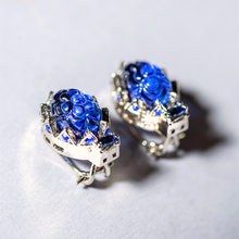 Load image into Gallery viewer, The Nusaybah Tops - Vintage Royal Blue Sapphire Inspired
