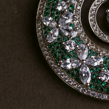 Load image into Gallery viewer, Royal Roots in Green and White | Limited Edition Luxury Earrings