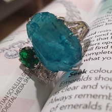 Load image into Gallery viewer, Raw Aquamarine Ring