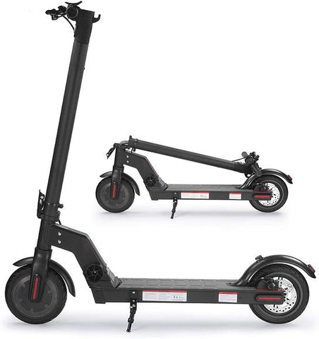 Electric Kick Scooter 350W Motor, 16 mph and 16 Miles Range - BLACK