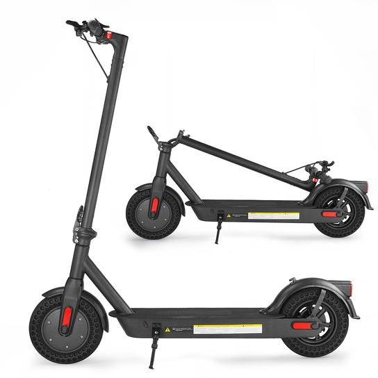 "Off Road Tire Electric Kick Scooter w/Three Speeds, Long Lasting Battery, Up to 15 KM ,Black 350W motor, 10"" tire"