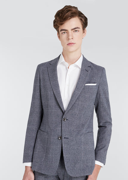 4S Glen Check Jacket (Gray)