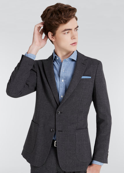 4S Glen Check Jacket (Dark Gray)