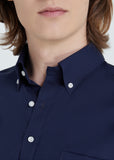 Bottons Down Collar Shirt (Navy)