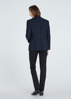 Check Stripe Jacket (Navy)