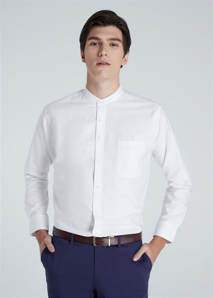 Band Collar Shirt (White)