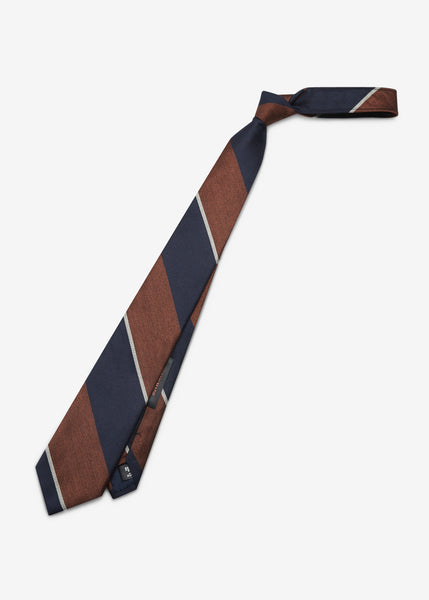 Japan Made Stripe Tie (Orange)