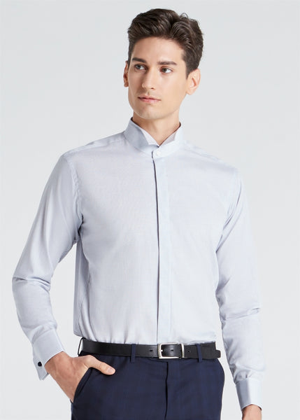 Wing Collar Shirt (Light Blue)