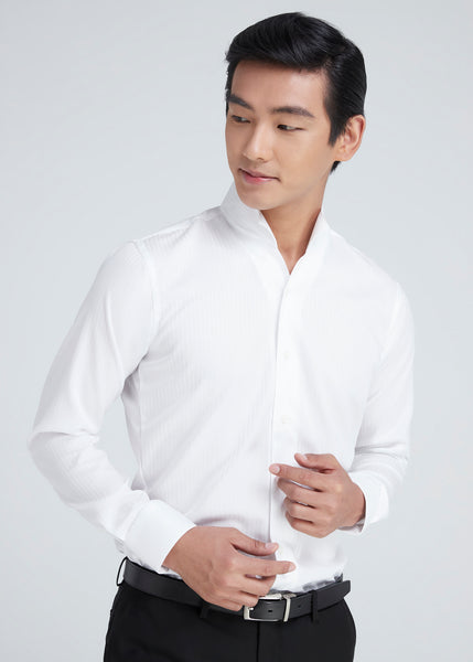 Italian collar shirt (White)