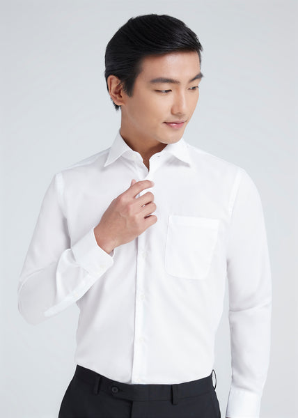 Wide Spread Shirt (White)