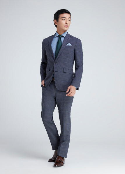 Check Suit (Navy)