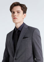Chalk Stripe Suit (Gray)