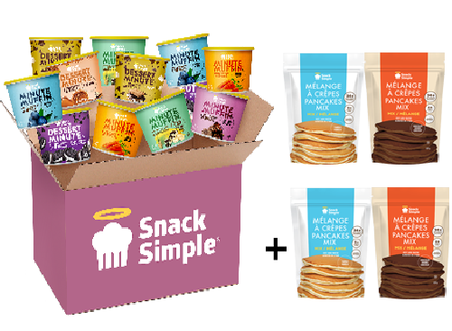 16 products + 4 pancake mixes
