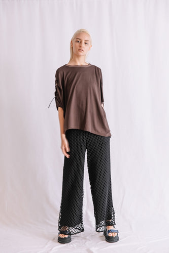 GEOMETRIC LACE PANTS