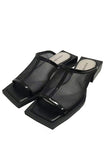 SQUARE HEEL MULE-19 BLACK / 35.5