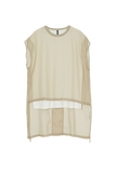 LAYERED SEE-THROUGH TOPS-52 BEIGE / 0