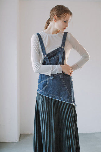 DENIM OVERALL REMAKE JUMPER SKIRT