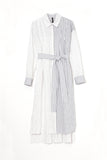 STRIPE SHIRT DRESS-02 OFF WHITE / 0