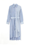 STRIPE SHIRT DRESS-92 BLUE / 0